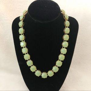 J.CREW Green Chunky Stone Statement Necklace
